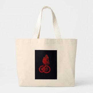 Mountain Biker MTB BMX CYCLIST Large Tote Bag
