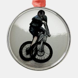 Mountain Biker MTB BMX CYCLIST Metal Ornament