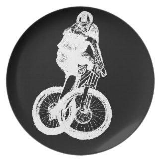 Mountain Biker MTB BMX CYCLIST Plate