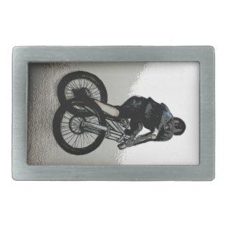 Mountain Biker MTB BMX CYCLIST Rectangular Belt Buckle