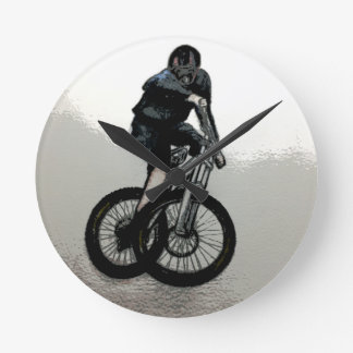 Mountain Biker MTB BMX CYCLIST Round Clock