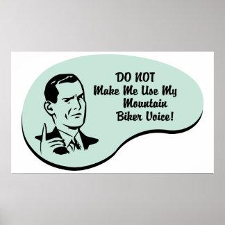 Mountain Biker Voice Poster