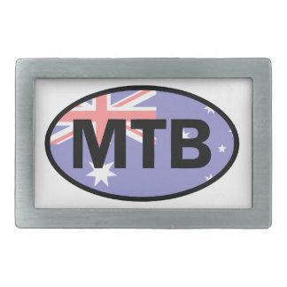 Mountain Biking Australia Flag Belt Buckle