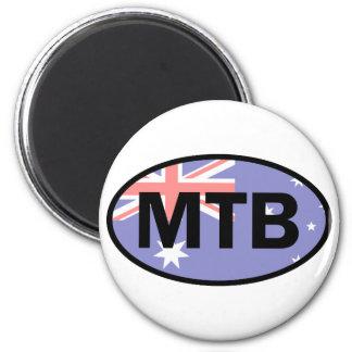 Mountain Biking Australia Flag Magnet
