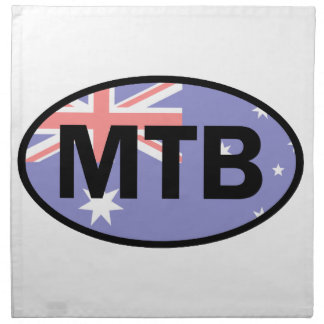Mountain Biking Australia Flag Napkin