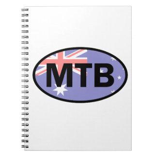 Mountain Biking Australia Flag Notebook