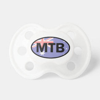 Mountain Biking Australia Flag Pacifier