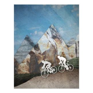 Mountain Biking Letterhead Template