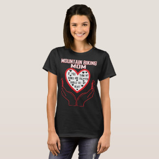 Mountain Biking Mom You Think Hands Full See Heart T-Shirt