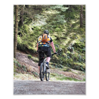 MOUNTAIN BIKING PHOTO PRINT