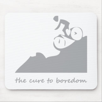 Mountain biking, the cure to boredom mouse pad