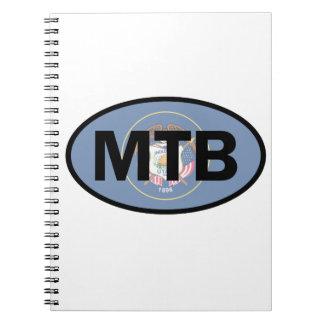 Mountain Biking Utah Flag Notebook
