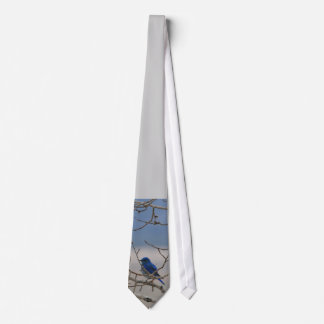 Mountain Blue Bird Tie