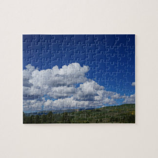 Mountain, blue sky, in Escalante, Utah Jigsaw Puzzle