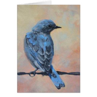 Mountain Bluebird Fine Art Card