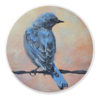 Mountain Bluebird Fine Art Ceramic Knob
