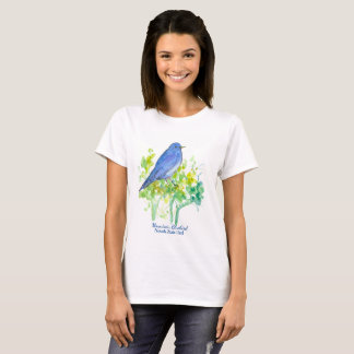 Mountain Bluebird Nevada State Bird Sagebrush T-Shirt