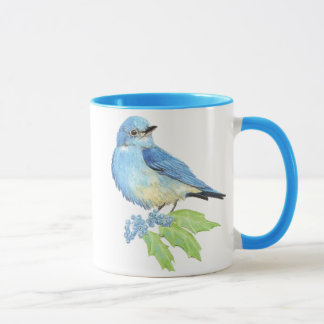 Mountain Bluebird Oregon Grape Mug