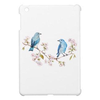 Mountain Bluebirds on Sakura Branch iPad Mini Cover