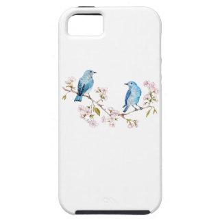 Mountain Bluebirds on Sakura Branch iPhone 5 Case