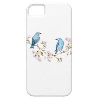 Mountain Bluebirds on Sakura Branch iPhone 5 Cover