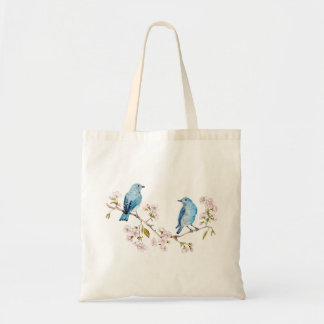 Mountain Bluebirds on Sakura Branch Tote Bag