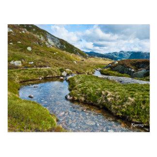 Mountain brook photo postcard. Norway Postcard
