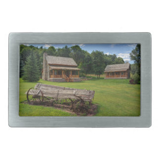 Mountain Cabin - Rural Idaho Rectangular Belt Buckle