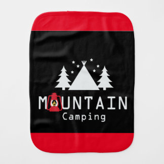 mountain camping burp cloth