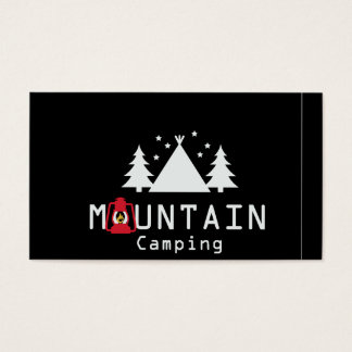 mountain camping business card
