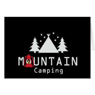 mountain camping card