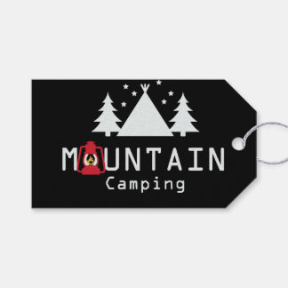 mountain camping gift tags