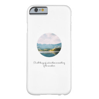Mountain Circle Photo Inspirational Quote Barely There iPhone 6 Case