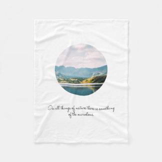 Mountain Circle Photo Inspirational Quote Fleece Blanket