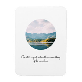 Mountain Circle Photo Inspirational Quote Magnet