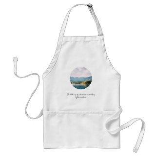 Mountain Circle Photo Inspirational Quote Standard Apron