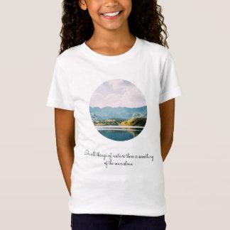 Mountain Circle Photo Inspirational Quote T-Shirt