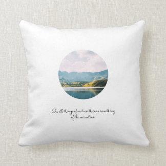 Mountain Circle Photo Inspirational Quote Throw Pillow