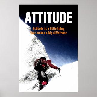 Mountain Climber Attitude Motivational Poster
