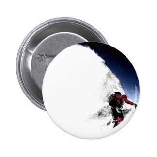 Mountain Climber Extreme Sports 2 Inch Round Button