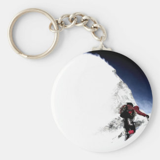Mountain Climber Extreme Sports Basic Round Button Keychain