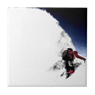 Mountain Climber Extreme Sports Tile