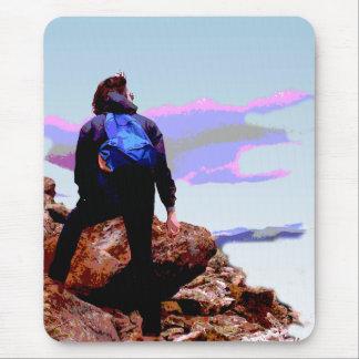 Mountain Climber Mouse Pad