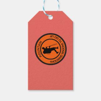 Mountain climbing gift tags