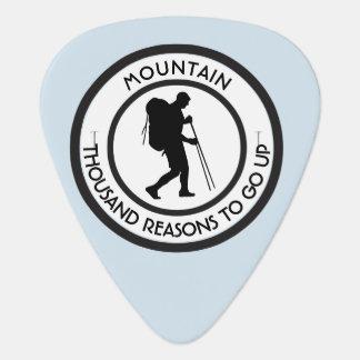 Mountain climbing guitar pick
