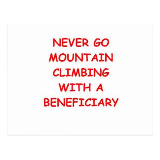 mountain climbing postcard