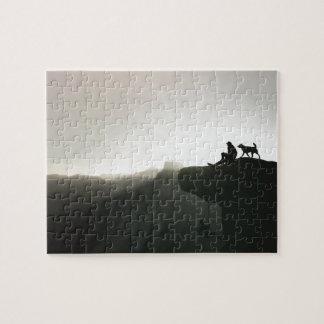 Mountain climbing Yosemite motivation and humor Jigsaw Puzzle