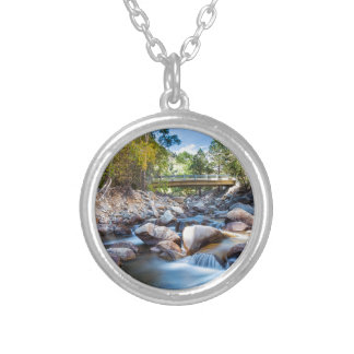 Mountain Creek Bridge Silver Plated Necklace