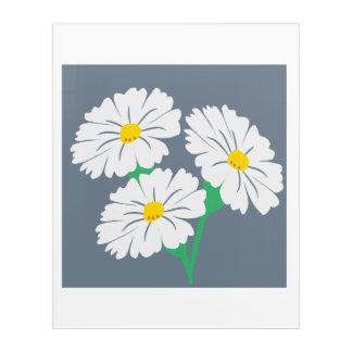 Mountain Daisy Flowers Wall Acrylic Acrylic Print