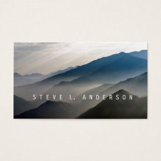 Mountain Echoes / Misty Layers of Mountains Business Card